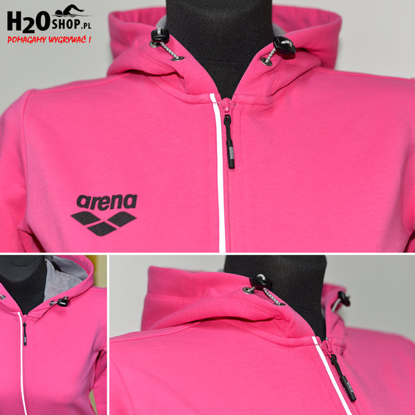 ARENA BLUZA ROZPINANA W TL HOODED JACKET FRESIA ROSE