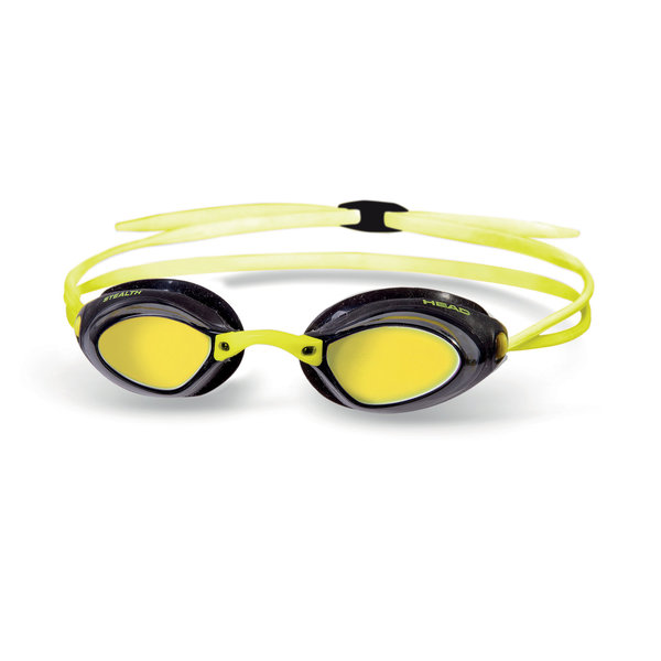 HEAD OKULARY PŁYWACKIE  STEALTH LSR  MIRROR yellow black
