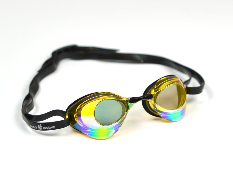 MAD WAVE OKULARY TURBO RACER II RAINBOW